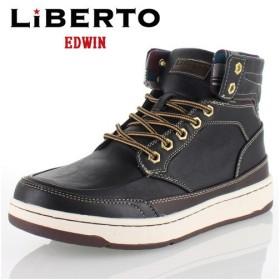 リベルトエドウィン LIBERTO EDWIN L60246 BLACK メンズ ブーツ ハイカットスニーカー 防水設計