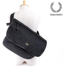 FRED PERRY フレッドペリー MESSENGER BAG コーデュラ メッセンジャーバッグ BLACK  F9272-07 SS17