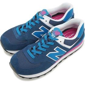 newbalance ニューバランス レディース スニーカーWL574M Bワイズ BLUE/PINK  WL574MOY FW15