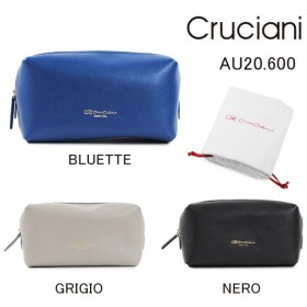 CRUCIANI クルチアーニ ポーチ AU20.600 BLUETTE GRIGIO NERO 小物入れ バッグ レディース 2017AW
