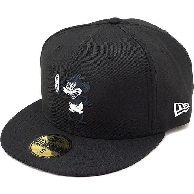 NEWERA ニューエラ キャップ New Era 59FIFTY DISNEY ベースボールキャップ 帽子 ブラック/Sホワイト  11559085 SS18