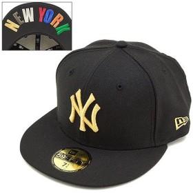 ニューエラ NEWERA キャップ ニューヨーク・ヤンキース フィフティーナインフィフティー BLK/GLD  N0020748 SS14 NEW ERA