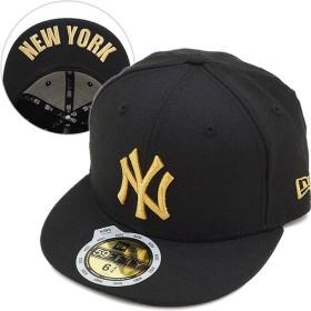 ニューエラ NEWERA キャップ キッズ KIDS 59FIFTY ニューヨーク・ヤンキース ブラック/M.ゴールド  11310394 NEW ERA