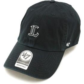 フォーティーセブン '47 キャップ Lions ミニロゴCLEAN UP ライオンズ メンズ レディース アジャスタブル 帽子 BLACK  BSRNR08GWS