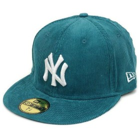 NEWERA ニューエラ キャップ 59FIFTY コーデュロイ ニューヨーク・ヤンキース ターコイズ/スノーホワイト (N0007377)(NEW ERA)