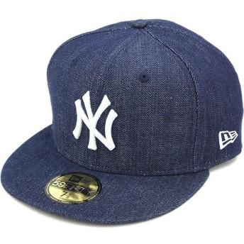 NEW ERA ニューエラ キャップ 59FIFTY MLB ニューヨーク・ヤンキース デニム INDIGO DENIM N0024220 FW14