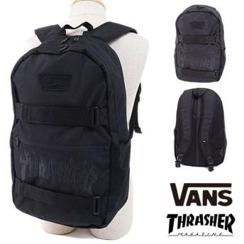 VANS × THRASHER バンズ スラッシャーコラボ リュック AUTHENTIC III SKATEPACK バックパック・デイパック BLACK THRASHER  VN0A2WNV09B FW17