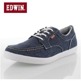 エドウィン EDWIN ED-7155 ブルー デッキシューズ スニーカー 軽量 メンズ 靴 カジュアルシューズ デニム ネイビー