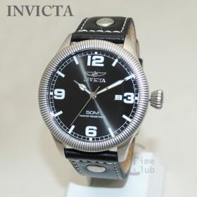 fde0094a51 インビクタ 腕時計 INVICTA 時計 1460 Vintage ヴィンテージ ブラック レザー/シルバー メンズ インヴィクタ