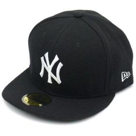 NEWERA ニューエラ キャップ 59FIFTY メルトンウール ニューヨーク・ヤンキース ブラック/スノーホワイト (N0007274)