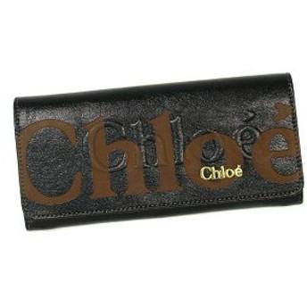 クロエ chloe 長財布 長札 3po303 long wallet with flap eclipse black