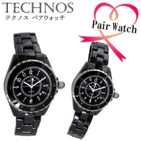 テクノス TECHNOS クオーツ 腕時計 時計 T9438TB T9861TB ブラック
