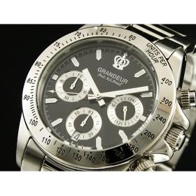 グランドール GRANDEUR 腕時計 クロノグラフ メンズ OSC026W3