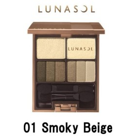 カネボウ ルナソル フェザリースモーキーアイズ 01 Smoky Beige - 定形外送料無料 -wp
