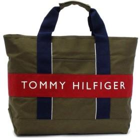 トミーヒルフィガー tommy hilfiger トートバッグ logo classics 6912237 tote olive/red gy