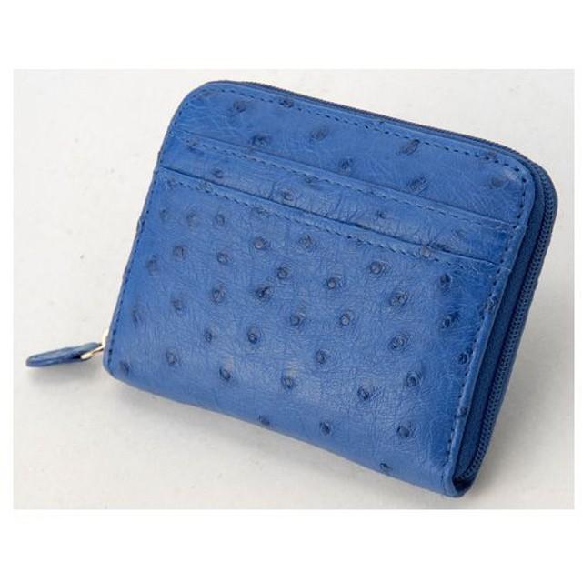 01f8823a56a1 ロダニア RODANIA オーストリッチ コンパクト 財布 OKN1887-BL クレマリス(ブルー)