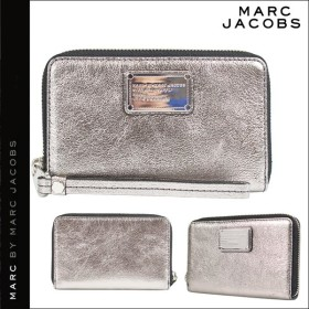 マークバイマークジェイコブス MARC BY MARC JACOBS 財布 長財布 スマホケース メンズ レディース ガンメタル M0005043