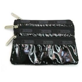レスポートサック lesportsac ポーチ バッグ ブラックパテント 7158 3-zip cosmetic bk