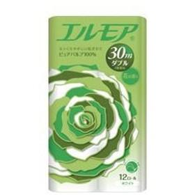 (まとめ)エルモア 花の香り ダブル 30m 12ロール×8パック