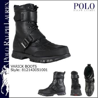 ポロ ラルフローレン POLO by RALPH LAUREN ブーツ ブラック812143051001 VARICK BOOTS レザー メンズ