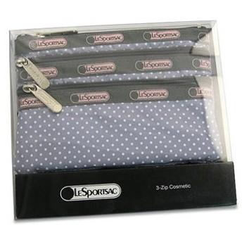 レスポートサック lesportsac ポーチ バッグ グレイピンドット 6501 boxed 3-zip cosmetic