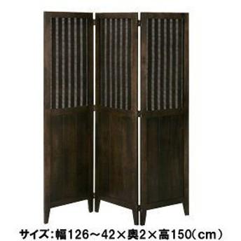 〔アジアン家具〕アジアンテイスト バンブースクリーン 3連 bs-7043