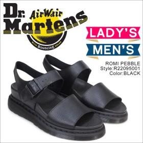 ドクターマーチン Dr.Martens サンダル ロミ ぺブル ストラップ レディース メンズ ROMI PEBBLE ブラック 黒 22095001