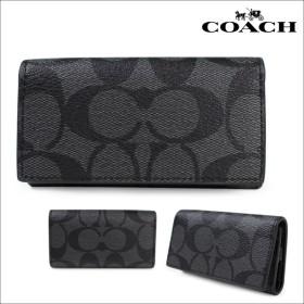 COACH コーチ メンズ キーケース F64005 チャコール×ブラック
