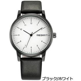 PHCOOVERS オシャレ アナログ 腕時計 男女兼用 オシャレ レザー バンド ウォッチ (ブラック*ホワイト)