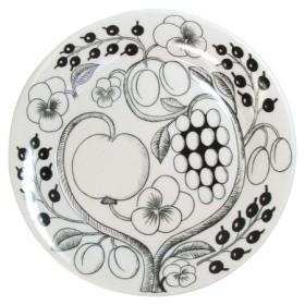 Arabia アラビア 北欧食器 パラティッシ ブラックパラティッシ PARATIISI BLACK&WHITE 6670 フラットプレート 皿 26cm