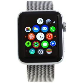 アップルウォッチ Apple Watch series 2 42mm スマートウォッチ シルバーケース/パールナ イ ロ ン