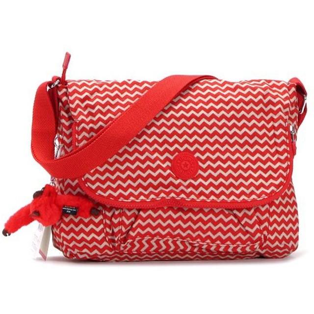 キプリング kipling ショルダーバッグ K15176 GARAN CHEVRON RED PR RED