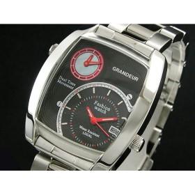グランドール GRANDUER 腕時計 デュアルタイム GSX026W2