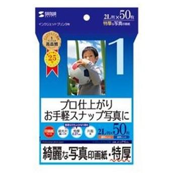 (まとめ)サンワサプライ インクジェット写真印画紙・特厚 JP-EP62L〔×5セット〕