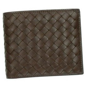 ボッテガ・ヴェネタ bottega veneta 二つ折り財布 小銭入 p.foglio intrecciato 193642 chocolate l.br
