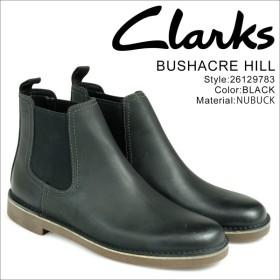 Clarks ブッシュエーカー ヒル ブーツ メンズ クラークス BUSHACRE HILL 26129783 サイドゴア 靴 ブラック