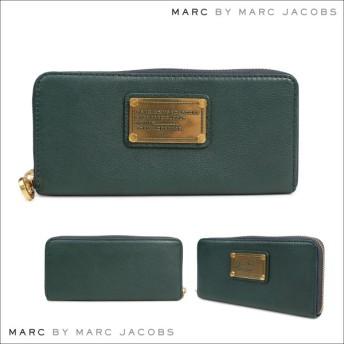 マークバイマークジェイコブス MARC BY MARC JACOBS 財布 長財布 ラウンドファスナー SLIM ZIP AROUND レディース グリーン M0001277