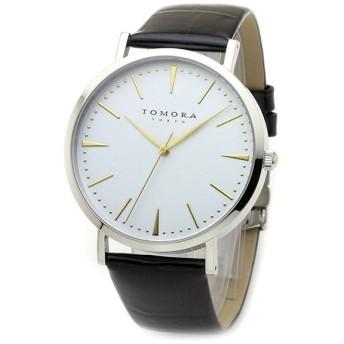 トモラ TOMORA TOKYO クオーツ メンズ 腕時計 T-1601-GWHBK ホワイト