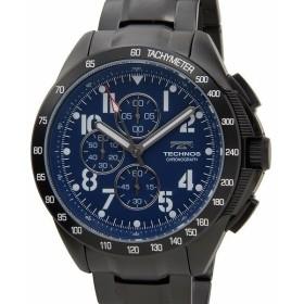 テクノス TECHNOS T4417BH 限定モデル プレミアム クロノグラフ 10気圧防水 替えベルト付き ブルー メンズ 腕時計