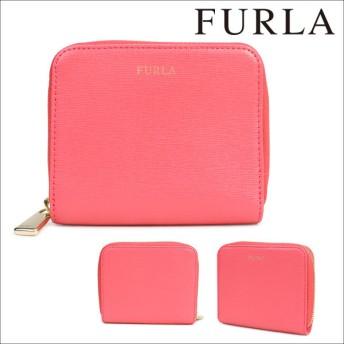 FURLA フルラ 財布 二つ折り ラウンドファスナー レディース ピンク CLASSIC 888953
