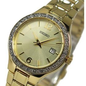 セイコー SEIKO クオーツ レディース スワロフスキー 腕時計 SUR782P1 ゴールド