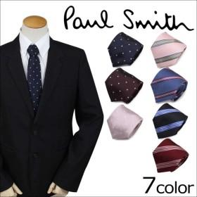 ポールスミス Paul Smith ネクタイ メンズ ドット ストライプ シルク TIE ギフト ケース付 イタリア製 ビジネス 結婚式