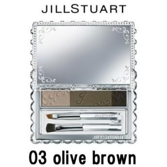 ジルスチュアート アイブロウパウダー 03 olive brown - 定形外送料無料 -wp