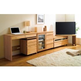 アルダー天然木ユニットボード キャスター付きテレビ台 幅106cm 711015