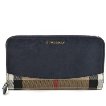 バーバリー BURBERRY 財布 サイフ さいふ ラウンドファスナー長財布 キャンバス×カーフスキン 3992895