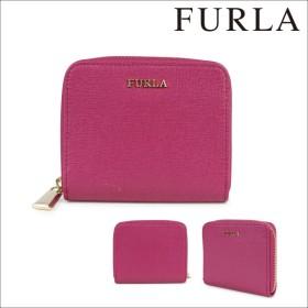 FURLA フルラ 財布 二つ折り ラウンドファスナー レディース ピンク BABYLON 828042