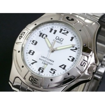 シチズン製 Q&Q 腕時計 時計 ソーラー メンズ H952-204