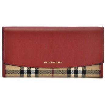 バーバリー BURBERRY 財布 サイフ さいふ 二つ折り長財布 カーフスキン×キャンバス 3982451