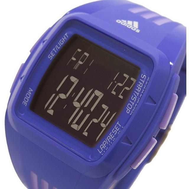 アディダス パフォーマンス デュラモ メンズ デジタル 腕時計 ADP6121 パープル