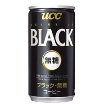 (まとめ)UCC ブラック無糖 185g缶 30本入